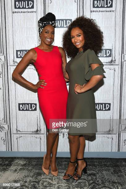 """Actress Franchesca Ramsey and TV host/writer Janet Mock attend the Build Series to discuss the new book """"Surpassing Certainty: What My Twenties..."""