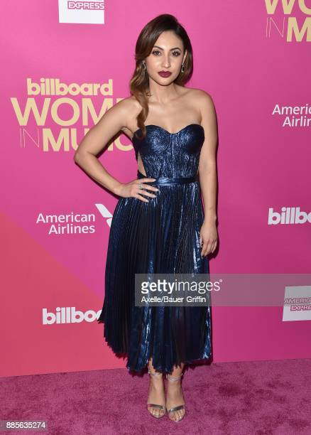 Actress Francia Raisa arrives at the Billboard Women In Music 2017 at The Ray Dolby Ballroom at Hollywood Highland Center on November 30 2017 in...