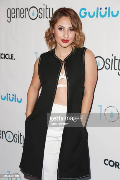 Actress Francia Raisa arrives at the Generosityorg Fundraiser For World Water Day at the Montage Hotel on March 21 2017 in Beverly Hills California