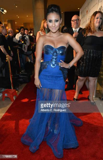 Actress Francia Raisa arrives to the 28th Annual Imagen Awards at The Beverly Hilton Hotel on August 16 2013 in Beverly Hills California