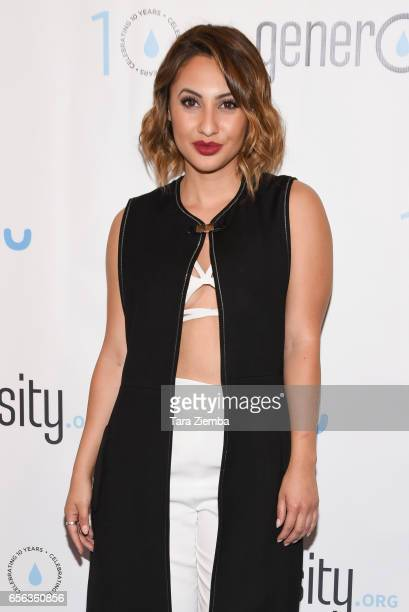 Actress Francia Raisa attends a Generosityorg fundraiser for World Water Day at Montage Hotel on March 21 2017 in Beverly Hills California