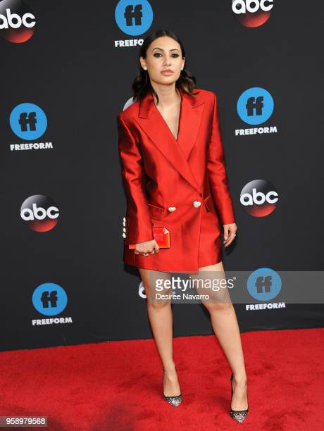 Actress Francia Raisa attends the 2018 Disney ABC Freeform Upfront on May 15 2018 in New York City