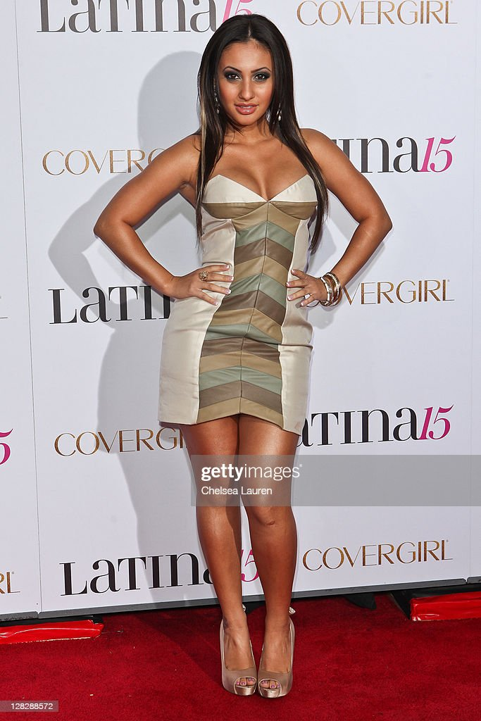 Actress Francia Raisa attends the celebration of Latina Magazine's 15th anniversary at The Globe Theatre on October 5, 2011 in Universal City, California.