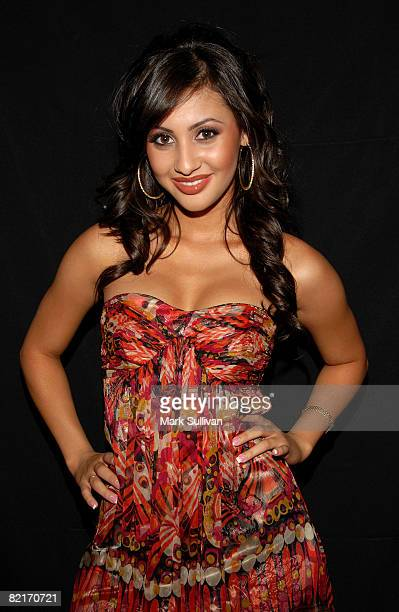 Actress Francia Raisa attends the Mattel Celebrity Retreat produced by Backstage Creations at Teen Choice 2008 on August 3 2008 in Universal City...
