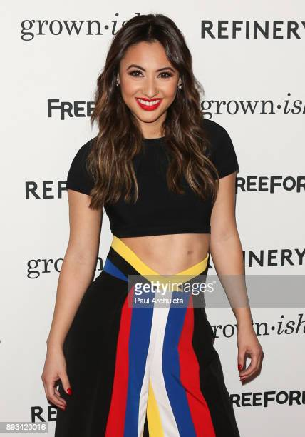 Actress Francia Raisa attends the premiere of ABC's 'Grownish' on December 13 2017 in Hollywood California
