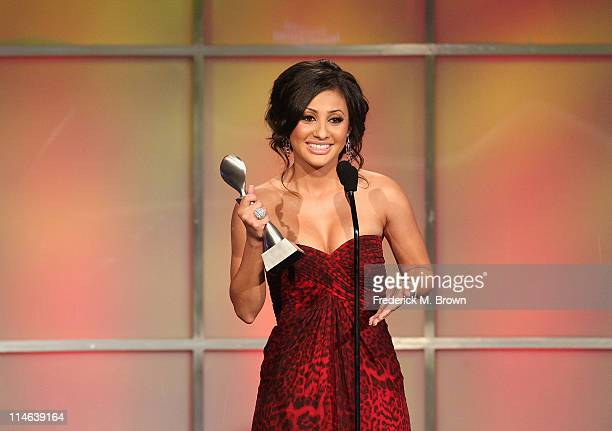 Actress Francia Raisa speaks during the 36th Annual Gracie Awards Gala at the Beverly Hilton Hotel on May 24, 2011 in Beverly Hills, California.