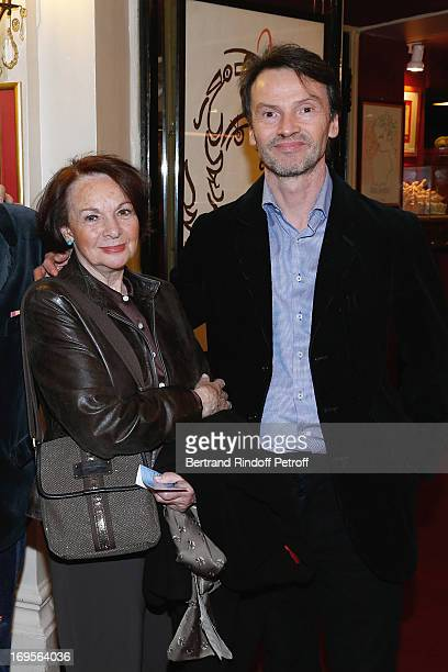 Actress Francoise Arnoul and Bruno Finck attend Homage To French Actor JeanClaude Brialy at Theatre des Bouffes Parisiens with the screening of movie...