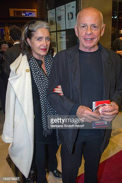 Actress Francoise Fabian and actor Gerard Lartigau at Theatre du Grand PointVirgule on October 22 2012 in Paris France