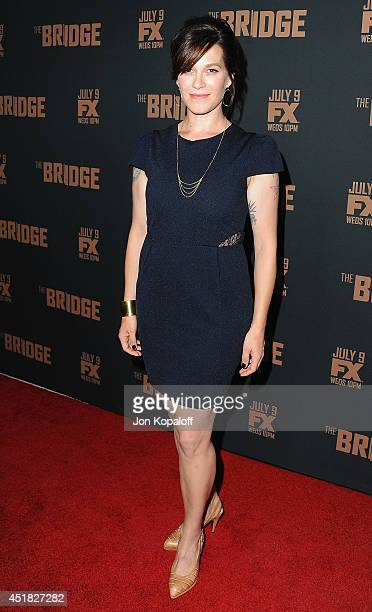 "Actress Franka Potente arrives at the FX's ""The Bridge"" Season 2 Premiere at Pacific Design Center on July 7, 2014 in West Hollywood, California."