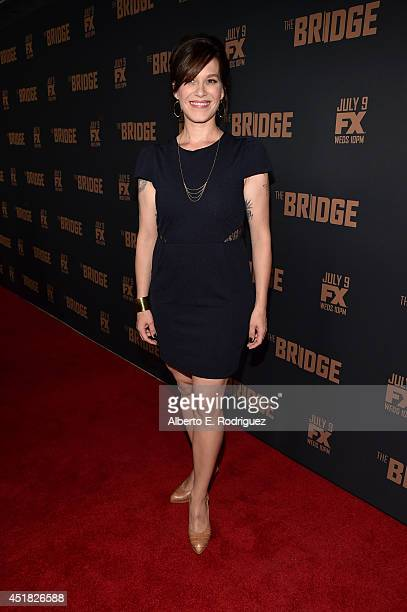 Actress Franka Potente attends the premiere of FX's The Bridge at Pacific Design Center on July 7 2014 in West Hollywood California