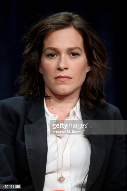 Actress Franka Potente speaks onstage at 'The Bridge' panel during the FX Networks portion of the 2014 Summer Television Critics Association at The...