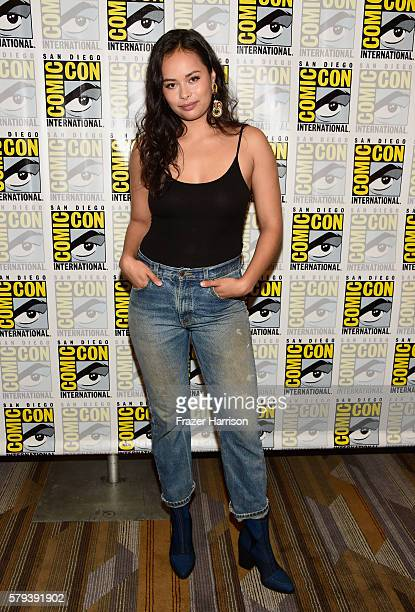Actress Frankie Adams attends The Expanse press line during ComicCon International on July 23 2016 in San Diego California