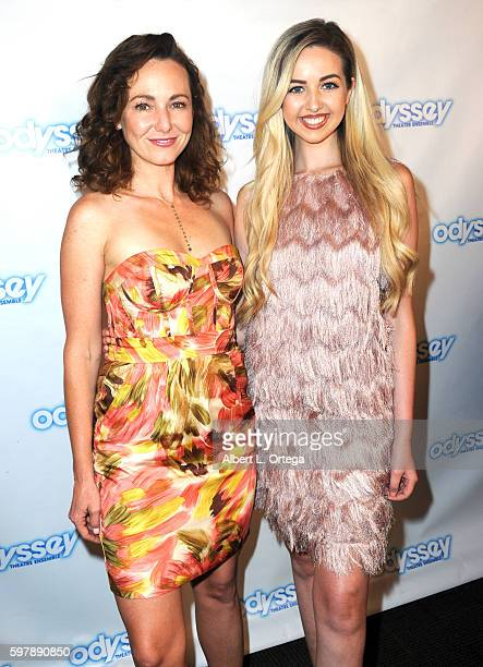 Actress Frankie Ingrassia and Miss Scotland Rachel Altenburg arrive for the Reading Of 'The Blade Of Jealousy/La Celsa De Misma' held at The Odyssey...