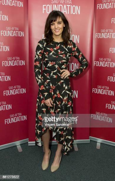 Actress Frankie Shaw attends SAGAFTRA Foundation Conversations screening of 'SMILF' at SAGAFTRA Foundation Screening Room on November 28 2017 in Los...