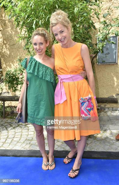 Actress Franziska Schlattner and Sara Sommerfeldt attend the FFF reception during the Munich Film Festival 2018 at Praterinsel on July 5 2018 in...