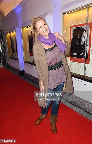 Actress Franziska Schlattner attends 'Die SpiegelAffaere' Preview at Gloria Palast on April 28 2014 in Munich Germany