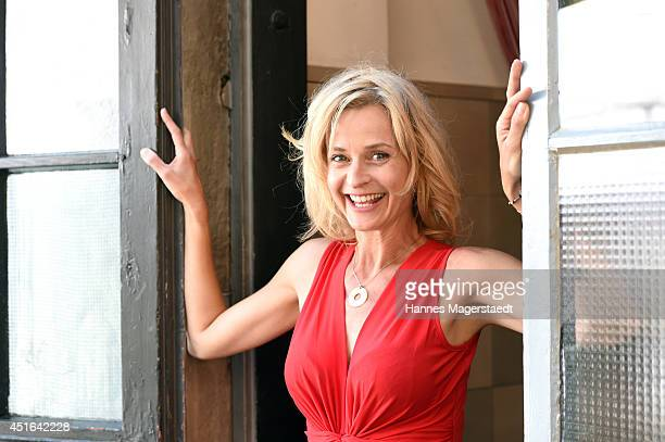 Actress Franziska Schlattner attends the FFF Reception at Praterinsel on July 3 2014 in Munich Germany