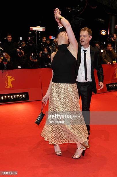Actress Franziska Weisz and actor Andreas Lust attend the 'Otouto' Premiere during day ten of the 60th Berlin International Film Festival at the...