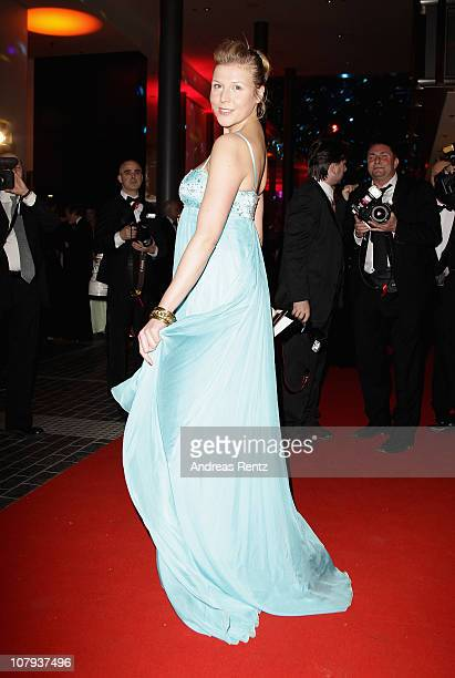 Actress Franziska Weisz arrives at the Berlin Press Ball 2011 at the Ullstein hall on January 8, 2011 in Berlin, Germany.