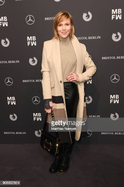 Actress Franziska Weisz attends the Dawid Tomaszewski show during the MBFW Berlin January 2018 at ewerk on January 15 2018 in Berlin Germany