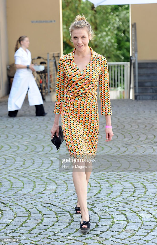 Actress Franziska Weisz attends the FFF Reception at Praterinsel on July 3, 2014 in Munich, Germany.