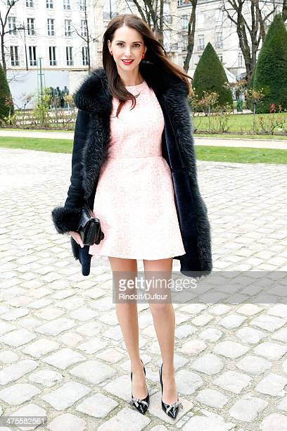 Actress Frederic Bel attends the Christian Dior show as part of the Paris Fashion Week Womenswear Fall/Winter 20142015 on February 28 2014 in Paris...