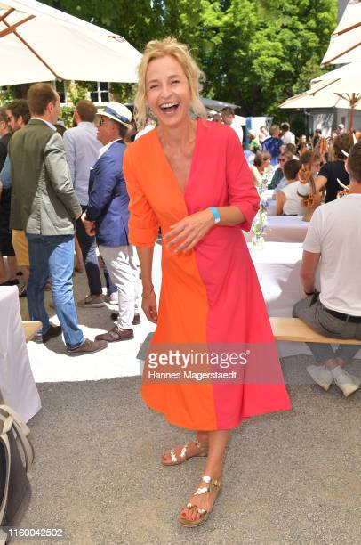 Actress Fredericke Schlattner attends the Film Fernseh Fonds Bayern 2019 reception during the Munich Film Festival at Praterinsel on July 04 2019 in...