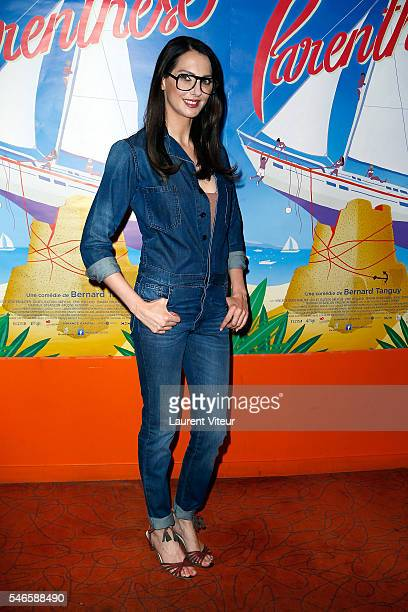 Actress Frederique Bel attends 'Parenthese' Paris Premiere at Cinema Gaumont Opera on July 12 2016 in Paris France