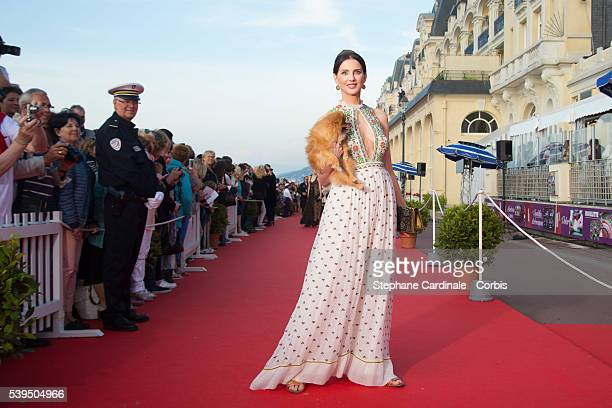Actress Frederique Bel attends the 30th Cabourg Film Festival Closing Ceremony on June 11 2016 in Cabourg France