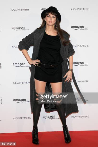 Actress Frederique Bel attends the Amazon TV series 'Jean Claude Van Johnson' Premiere at Le Grand Rex on December 12 2017 in Paris France