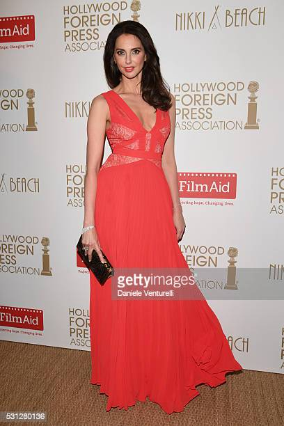 Actress Frederique Bel attends The Hollywood Foreign Press Association Honour Filmaid International during The 69th Annual Cannes Film Festival on...