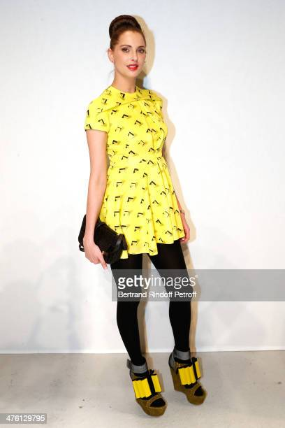 Actress Frederique Bel attends the John Galliano show as part of the Paris Fashion Week Womenswear Fall/Winter 20142015>> on March 2 2014 in Paris...