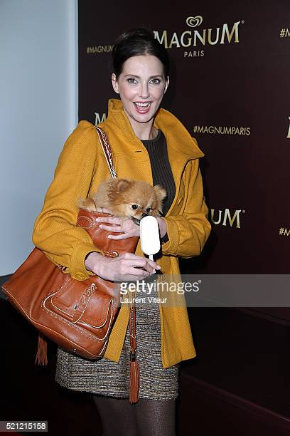 Actress Frederique Bel attends the Magnum Paris Concept Store Opening on April 14 2016 in Paris France