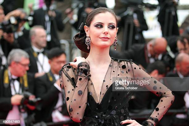 Actress Frederique Bel attends the Opening ceremony and the 'Grace of Monaco' Premiere during the 67th Annual Cannes Film Festival on May 14 2014 in...