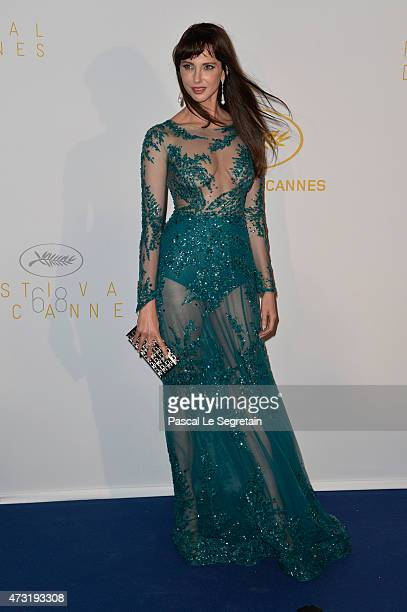 Actress Frederique Bel attends the Opening Ceremony dinner during the 68th annual Cannes Film Festival on May 13 2015 in Cannes France