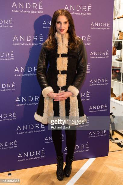 Actress Frederique Bel attends the 'Shoes Flirting' party by Andre on December 10 2013 in Paris France