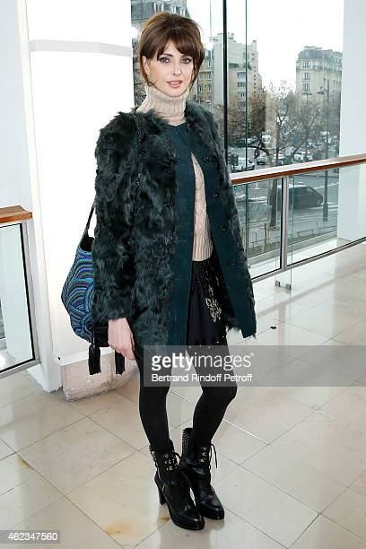 Actress Frederique Bel attends the Stephane Rolland show as part of Paris Fashion Week Haute Couture Spring/Summer 2015 on January 27 2015 in Paris...