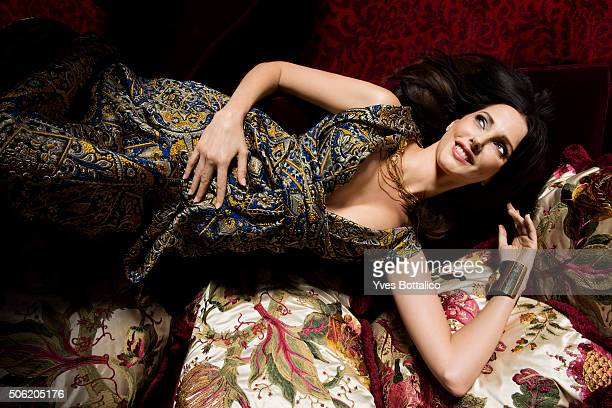 Actress Frederique Bel is photographed for Self Assignment on August 9 2015 in Paris France