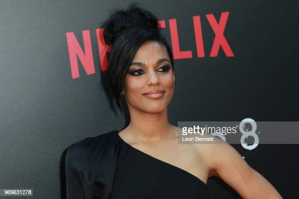 Actress Freema Agyeman attends Netflix's Sense8 Series Finale Event at ArcLight Hollywood on June 7 2018 in Hollywood California