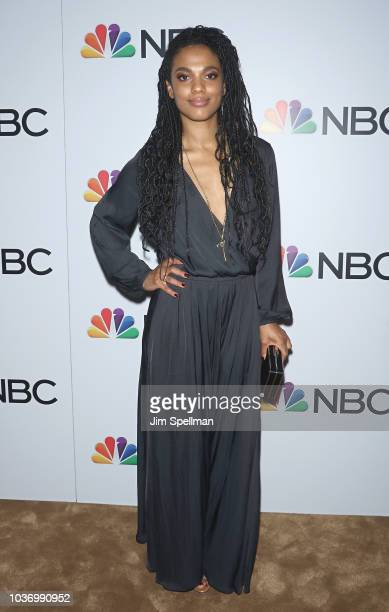 Actress Freema Agyeman attends the party for the casts of NBC's 20182019 Season hosted by NBC and The Cinema Society at Four Seasons Restaurant on...