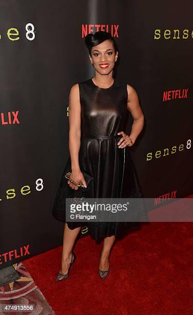 Actress Freema Agyeman attends the Premiere Of Netflix's 'Sense8' at AMC Metreon 16 on May 27 2015 in San Francisco California
