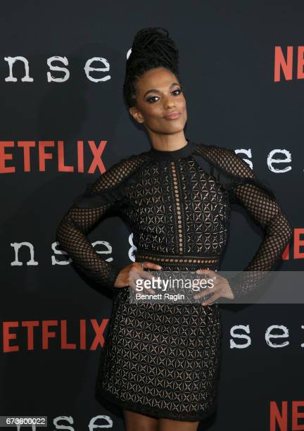 Actress Freema Agyeman attends the Sense8 New York premiere at AMC Lincoln Square Theater on April 26 2017 in New York City