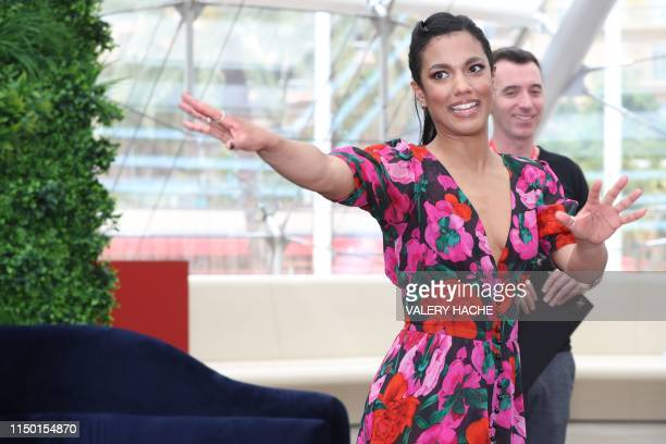 """Actress Freema Agyeman poses during a photocall for the TV show """"New Amsterdam"""" as part of the 59th Monte-Carlo Television Festival on June 15, 2019..."""