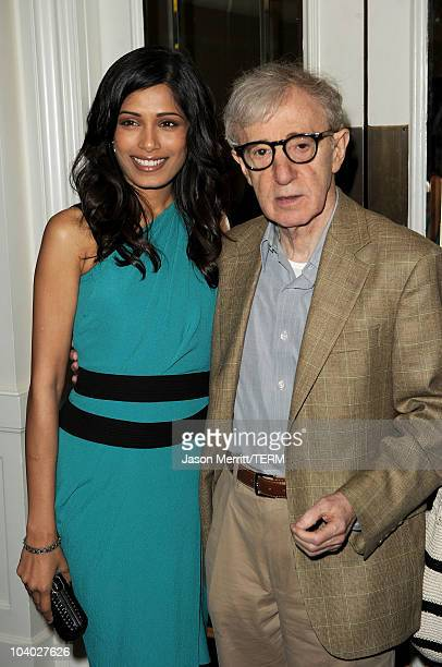 Actress Freida Pinto and writer/director Woody Allen attend the You Will Meet A Tall Dark Stranger Premiere held at The Elgin during the 35th 2010...