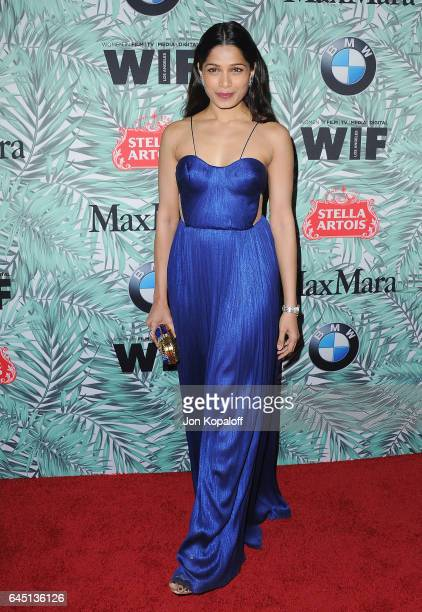 Actress Freida Pinto arrives at the 10th Annual Women In Film Pre-Oscar Cocktail Party at Nightingale Plaza on February 24, 2017 in Los Angeles,...