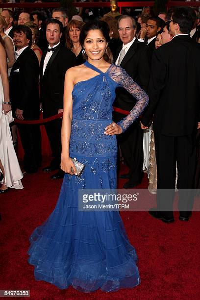 Actress Freida Pinto arrives at the 81st Annual Academy Awards held at Kodak Theatre on February 22 2009 in Los Angeles California