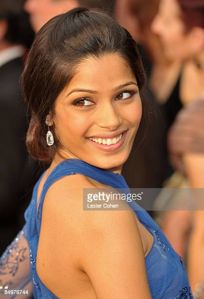 Actress Freida Pinto arrives at the 81st Annual Academy Awards held at The Kodak Theatre on February 22 2009 in Hollywood California
