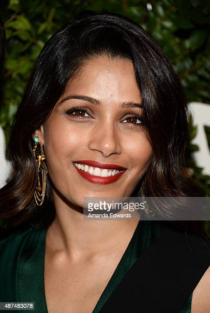 Actress Freida Pinto arrives at the Salvatore Ferragamo 100 Years In Hollywood celebration at the newly unveiled Rodeo Drive flagship Salvatore...
