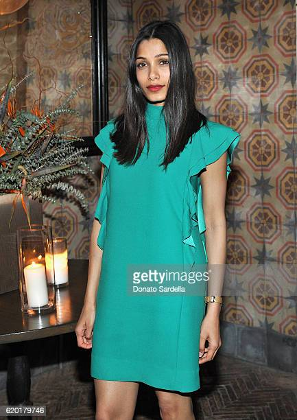 Actress Freida Pinto attends a private dinner with Roopal Patel hosted by Saks Fifth Avenue Beverly Hills at AOC on November 1 2016 in Los Angeles...