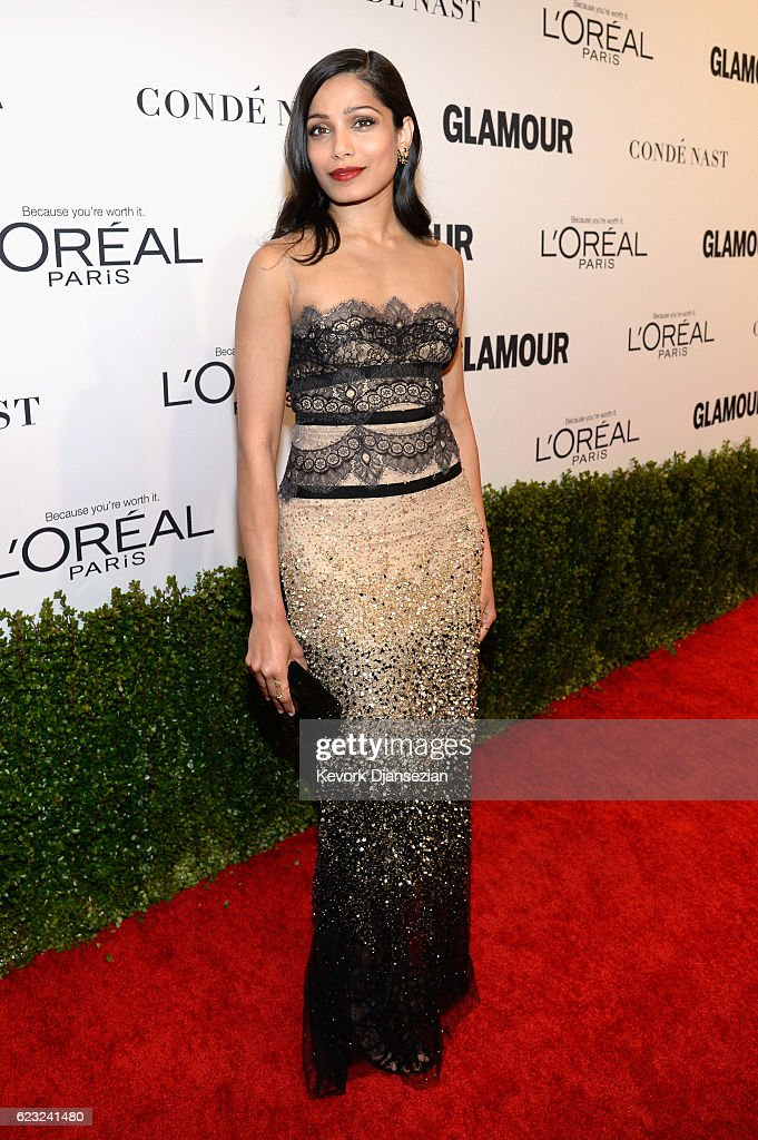 Actress Freida Pinto attends Glamour Women Of The Year 2016 at NeueHouse Hollywood on November 14, 2016 in Los Angeles, California.